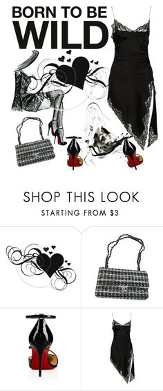 """""""BORN TO BE WILD"""" by fanfanfanfannnn ❤ liked on Polyvore featuring Chanel, Christian Louboutin and Alexander Wang"""