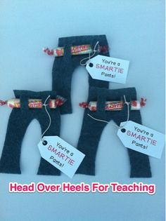 end of the school year gift for classmates or for your students. pants made out of felt.