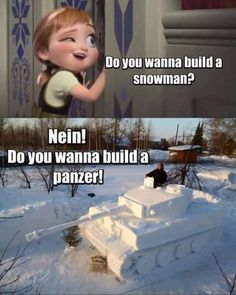 Elsa created an actual, functioning snowman. You really thought she would never build an army? (via Team Non-Rec).