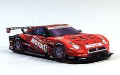 Motul Autech Nissan GT-R GT500 Paper Car Free Paper Model Download…