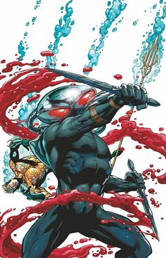 AQUAMAN #23.1: BLACK MANTA  On sale SEPTEMBER 11 • 32 pg, FC, $3.99 US • RATED T  Set loose as the Secret Society's plan unfolds, Black Manta is shocked to learn that Aquaman may be dead! Without the object of his hatred, how will Manta claim his final vengeance against the man who killed his father? Where will one of the most lethal villains alive turn his rage when he begins a new mission?