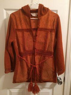 Vintage leather jacket sweater hoodie Hobo Hippie Stage Wear Costume