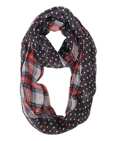 Loving this Black & Red Plaid Vermilion Infinity Scarf on #zulily! #zulilyfinds
