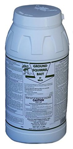 Wilco Ground Squirrel Bait, 4 lb > Wilco Ground Squirrel Bait 4lb Used where ground squirrels are present to eliminate them It is highly palatable to ground squirrels that come in large pellets with an anti-coagulant active ingredient to encourage them to eat and not store bait There is no pre-baiting required Check more at http://farmgardensuperstore.com/product/wilco-ground-squirrel-bait-4-lb/