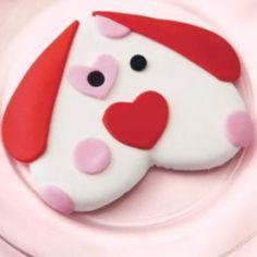 Puppy love valentine cookies