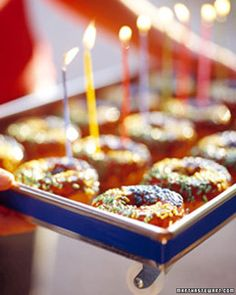 Warm, homemade doughnuts make a decadent birthday treat.