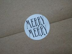 simple envelope seals for holiday cards