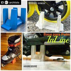 Mas de #3Dprint  by  @archtists @akyrak Esta vez nos toco diseñar una  Base Parador para Patines InLine para estilos agressive y fitness skate diseñados e impresos 3D.  Funcionan con varios modelos y marcas. Funcionan Genial.  #skate #rollerskates #rollerskating #3dprint #3dprinting #inline #inlineskate #holder #3ddesign #industrialdesign #sketchup #house #homeideas #architecture #ideas #sport #panama #wheels #rollerblade #skatepanama #rollerspanama by s_aless