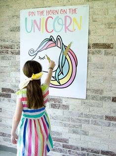 These PRINTABLE (DIY) backdrop is perfect for your upcoming Unicorn Party. This game must be printed at your local print shop. Its a LARGE file, so a professional print shop, FedEx or Kinkos is a must. This listing is for PRINTABLE Pin The Horn On the Unicorn Game: • PDF File, Unicorn