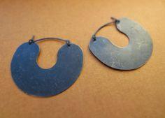 """Oxidized Silver """"Donut"""" Earrings"""