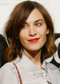 THE 10 MOST INSPIRING SHORT HAIRCUTS: Alexa Chung's Asymmetrical Bob - Why we love it: It's intentionally imperfect—the jagged lines add a quirky feel to an otherwise playing-it-safe bob. All that's needed for styling is a quick run-through with your hands, and a little messy frizz is welcome, too.