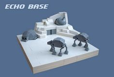 lego hoth echo base micro at-at