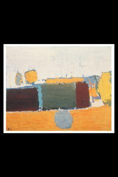 """Nicolas De Staël - """"Paysage du Vaucluse No 2"""", 1953 - Huile sur toile - 65 x 81 cm (*)"""