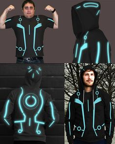 Tron Clothing for Men. Glow in the dark