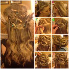 Anastacia_Newell #festivalhair #hairtutorial #coachellahair #sexyahir #howto #DYI #Concerthair