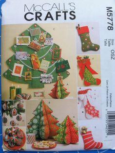 McCalls M5778 Christmas accessories