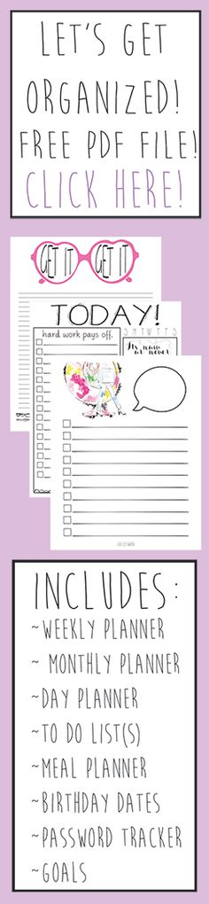 Free Planner Printables from Lacee Swan {newsletter subscription required}