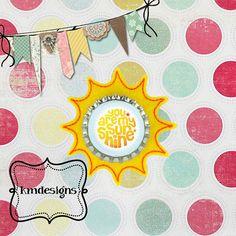 Bottle cap Sun Sunny Feltie ITH Embroidery design file