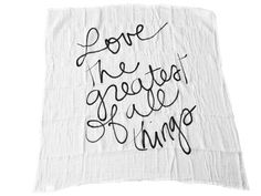 Modern Burlap Organic Cotton Muslin Swaddle Blanket -  LOVE THE GREATEST OF ALL THINGS. www.modernburlap.com