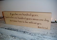 Classic Pooh Nursery Art Rustic Nursery If you by AndTheSignSays, $26.00