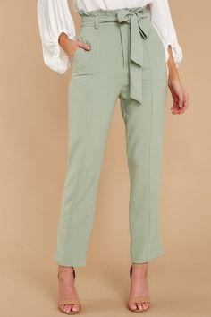 748e22f065c0 Adorable Mint Green Pants - Cute High Waisted Slacks - Trousers - $46 – Red  Dress