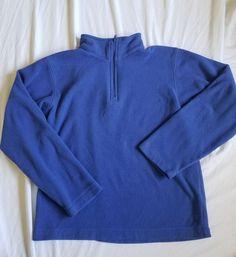 Lands End Boys 1/4 Zip Pullover Blue size M #LandsEnd #Pullover