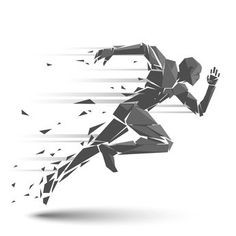 Geometric running man vector art illustration - Tap the pin if you love super heroes too! Cause guess what? you will LOVE these super hero fitness shirts! Man Vector, Free Vector Art, Vector Graphics, Symbole Tattoo, Marathon Tattoo, Runner Tattoo, Running Drawing, Sport Tattoos, Running Tattoos
