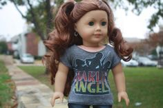 Angels Graphic Tee for American Girl Dolls by LostinaJungle, $10.00