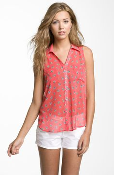 Lush Sleeveless Chiffon Blouse Buy at Nordstrom