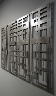 Maze Triptych Floating Wall Sculpture 40in X 30in by ModaIndustria, $269.00