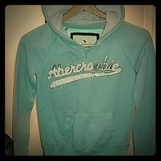 Abercrombie hoodie Baby blue, thermal hood Abercrombie sweater Abercrombie & Fitch Tops Sweatshirts & Hoodies