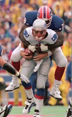 Football Stadiums, Nfl Football, Football Helmets, Ralph Wilson Stadium, Bruce Smith, Drew Bledsoe, Buffalo Bills Football, Sports Magazine, Vintage Football