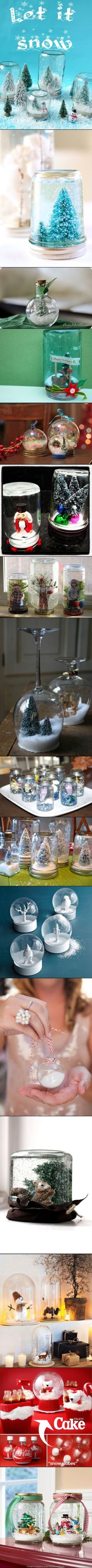 DIY Snow Globes. DIY projects For Christmas.