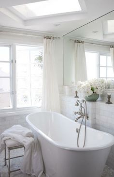 skylight over tub.   California Beach House