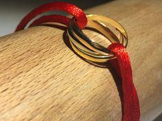 Gouden armband - Armband drie kleuren 14 kt. goud. - Een uniek product van Atelier925-goudsmid op DaWanda