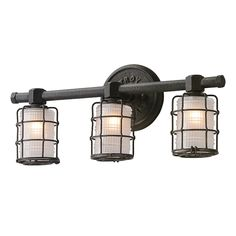 Buy the Troy Lighting Vintage Bronze Direct. Shop for the Troy Lighting Vintage Bronze Mercantile 3 Light Bathroom Vanity Light with Frosted Glass and save.