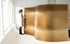 Flexibler Raumteiler aus Papier - die moderne Trennwand von Molo