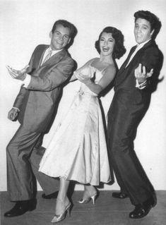 Elvis with Judy Tyler and Dean Jones - Jailhouse Rock 1957