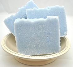 Handmade soaps.  http://www.etsy.com/listing/62715489/ocean-breeze-luxury-spa-salt-bar