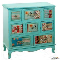 you could decoupage scrapbook papers on furniture like chest drawers Decoupage Furniture, Chalk Paint Furniture, Hand Painted Furniture, Funky Furniture, Refurbished Furniture, Repurposed Furniture, Furniture Projects, Furniture Makeover, Furniture Design