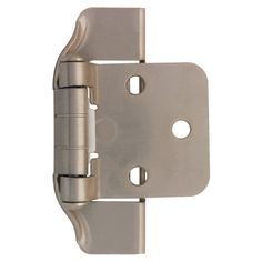 Liberty Hardware H01915L-U 1/2 Inch Semi-Wrap Steel Stamped Overlay Hinge (Set o Satin Nickel Cabinet Hinges Overlay Hinges Wrap Hinges