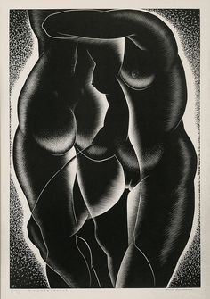 "Paul Landacre- ""Counterpoint"" , Wood Engraving , 1939"