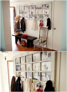 Recycled Door - 20 Cleverly Creative Ways to Display Your Cherished Photos