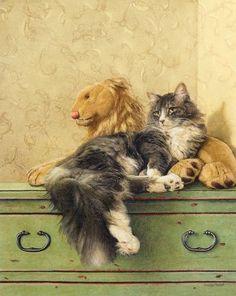 Cat & Lion - by Suellen Ross