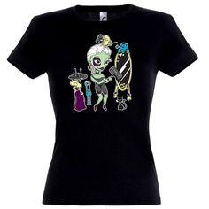 Zombie Make Up fekete női póló Zombie Makeup, Halloween, Mens Tops, How To Make, T Shirt, Fashion, Supreme T Shirt, Moda, Tee Shirt