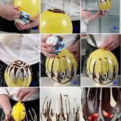 How To make a chocolate basket.