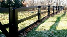 Black 3-Rail Horse Fencing Pasture Fencing, Horse Fencing, Fences, Fence Trees, Trees And Shrubs, Dog Playground, Third Rail, Fencing Material, Home Estimate