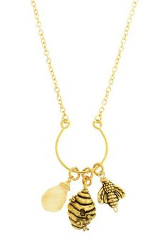 Honey Bee Charm Necklace by LEILA on @HauteLook