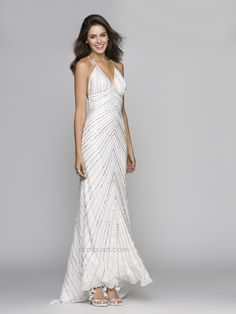 SCALA Spring/Prom 2014 style #A9654 Ivory/Silver also available in Black/Silver. www.scalausa.com