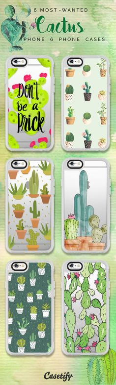 Top 6 Cactus iPhone 6 protective phone case designs